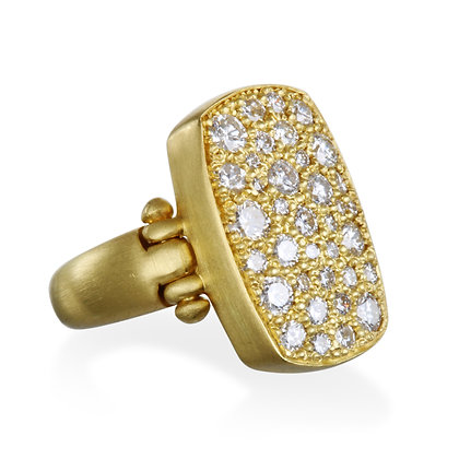 Diamond Chiclet Ring