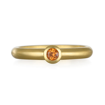 Mandarin Garnet Stack Ring