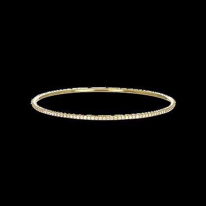 18k Gold Micro Pave Diamond Bangle