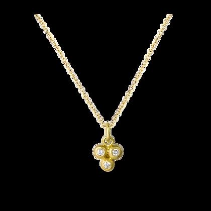 Triple Diamond Bead Necklace