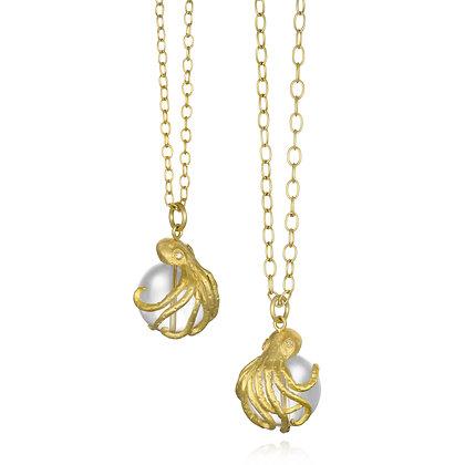 Rock Crystal Octopus Necklace