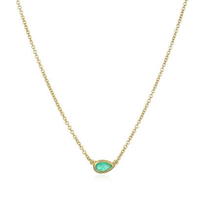 18K Gold Paraiba Tourmaline Necklace