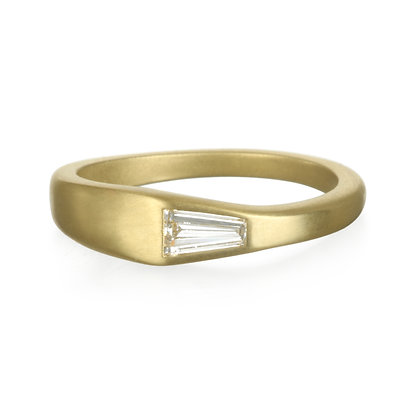 Tapered Diamond Baguette Ring