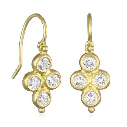 Quartet Diamond Drop Earrings