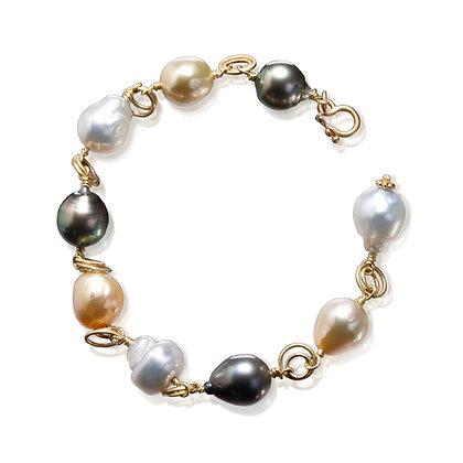 Multicolor South Sea Pearl Bracelet