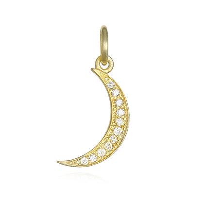 Diamond Crescent Moon Charm