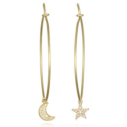Diamond Star & Moon Drops