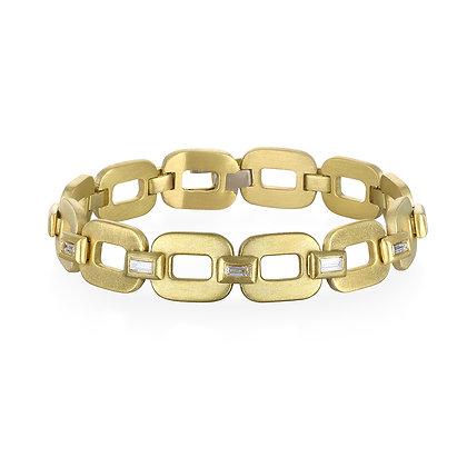 Diamond Baguette Hinged Link Bracelet