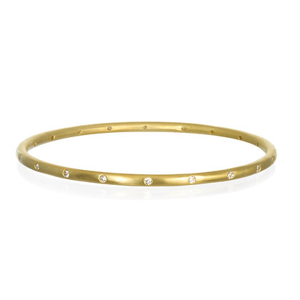 Narrow Diamond Bangle