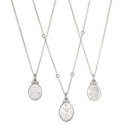 Platinum Dog Tag Necklace