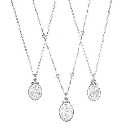 Platinum Dog Tag Necklace
