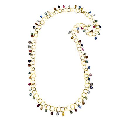 Umba Rainbow Sapphire Fringe Necklace
