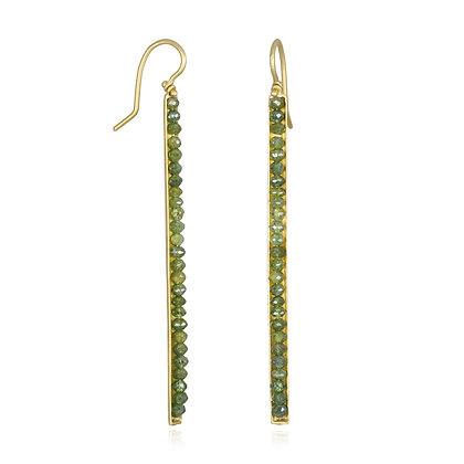 Colored Diamond Bar Earrings