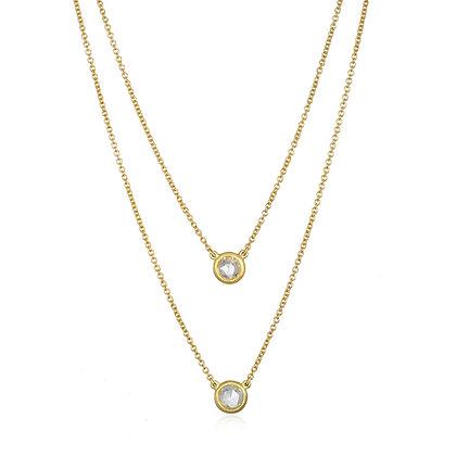 Rosecut Diamond Solitaire Necklace