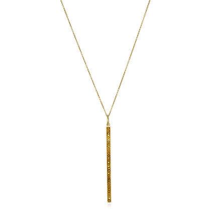 Milky Diamond Bar Necklace