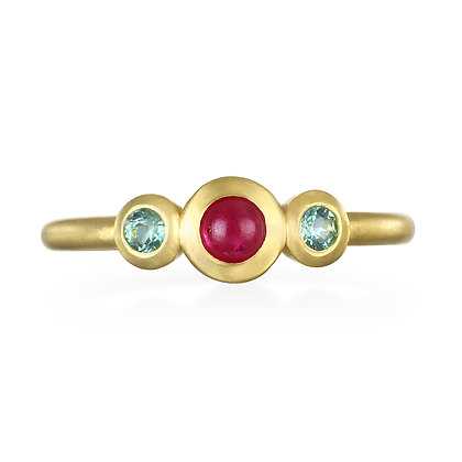 Ruby and Tourmaline Stack Ring
