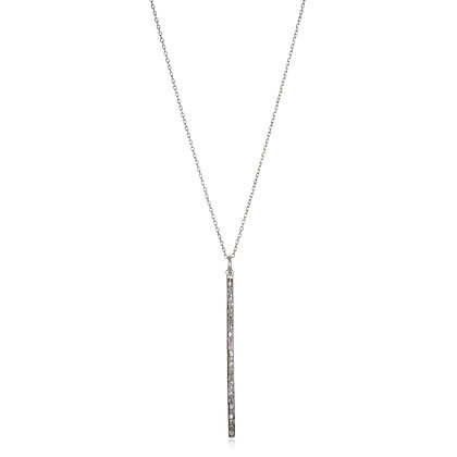 Platinum Diamond Bar Necklace