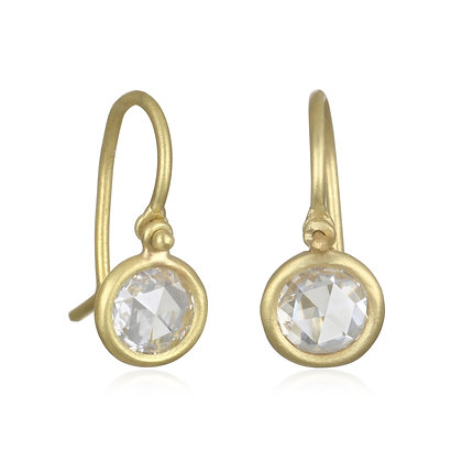 Rosecut Diamond Drop Earrings