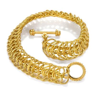 22k Handwoven Toggle Bracelet