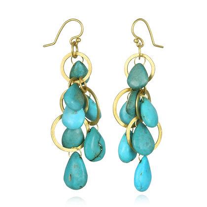 Turquoise Multi Loop Earrings