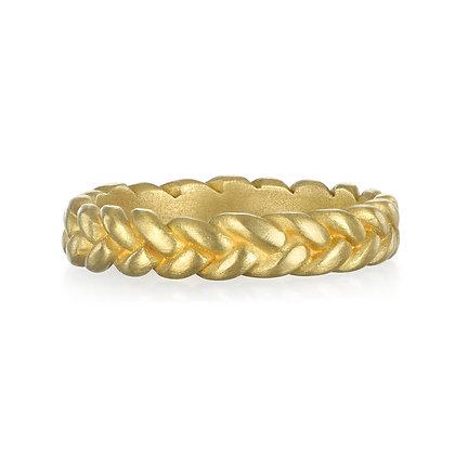 Thin Braided Stack Ring