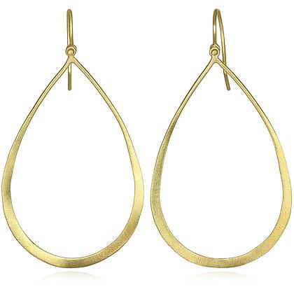 Planished Teardrop Earrings