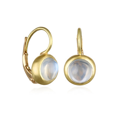 Moonstone Leverback Earrings