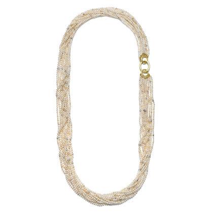 Multistrand Akoya Keshi Pearl Necklace