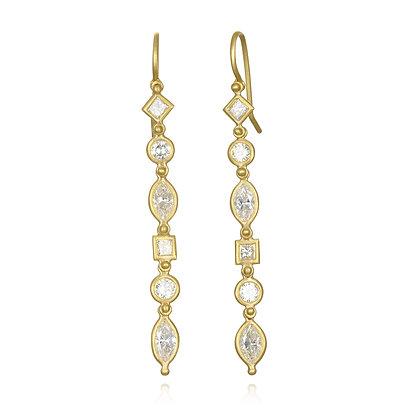 Marquise Diamond Line Earrings