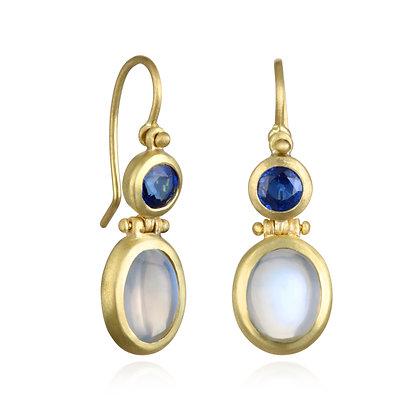 Moonstone Hinge Earrings