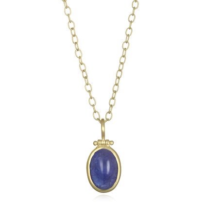 Tanzanite Cabochon Necklace