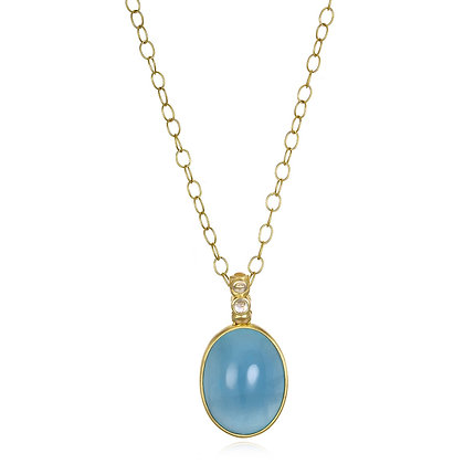 Aquamarine Moonstone Pendant