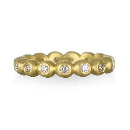 Diamond Granulation Bead Ring, Medium