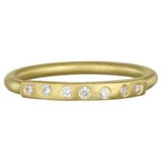 Diamond Bar Stack Ring