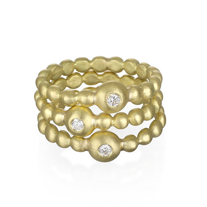Solitaire Bead Band