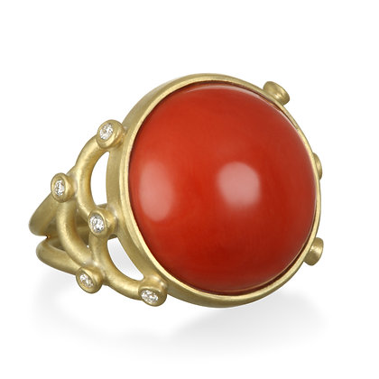 Coral Scallop Ring