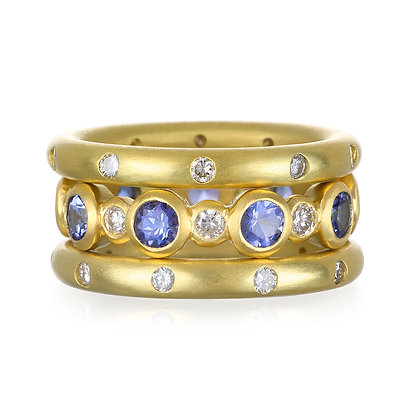 Tanzanite and Diamond Eternity Ring