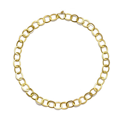Oval Planished Link Chain