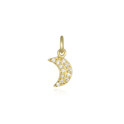 Diamond Half Moon Charm