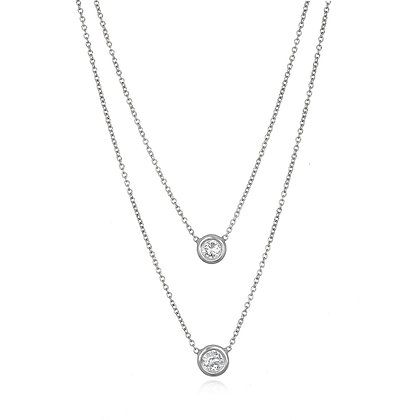 Platinum Rosecut Diamond Solitaire Necklace