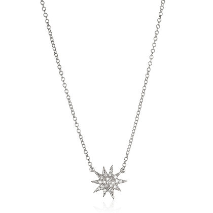 Platinum Starburst Necklace