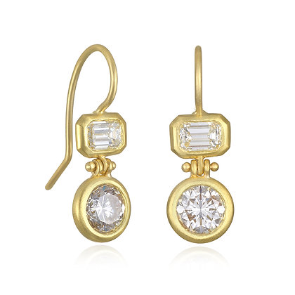 Double Diamond Hinge Earrings