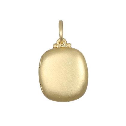 18K Gold Cushion Shaped Locket