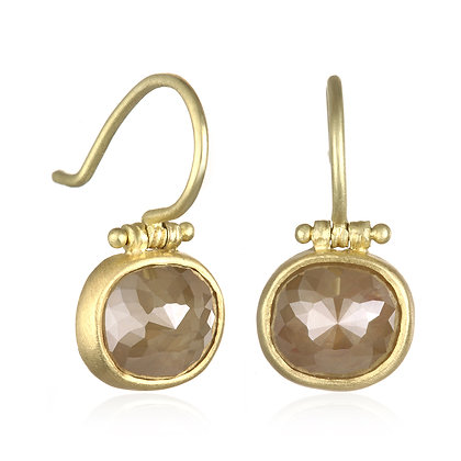 Milky Diamond Hinge Earrings