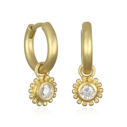 Huggy Hoops with Diamond Granulation Drops