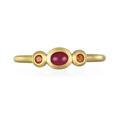 Ruby and Garnet Stack Ring