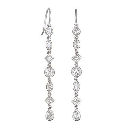 Geo Diamond Line Earrings