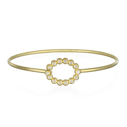 Oval Closure Diamond Bracelet