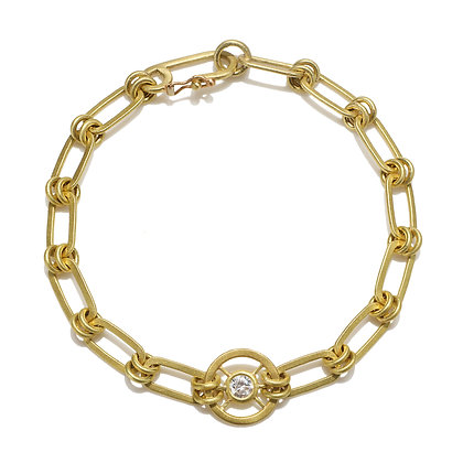 Diamond Wheel Bracelet