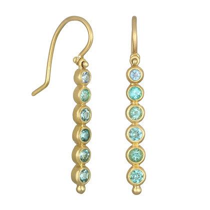 Paraiba Tourmaline Line Earrings